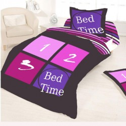 Housse de couette BED TIME STRIPES 140 x 200 +1 Taie