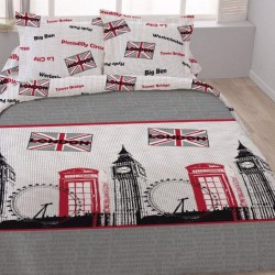 Housse de couette  240 x 220 +2 Taies  LONDRES PICCADILLY