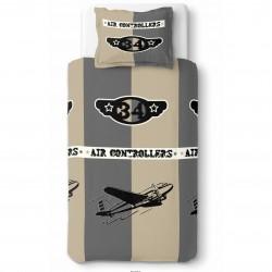 Housse de couette AVION AIR CONTROLER 140 x 200 +1 Taie Coton
