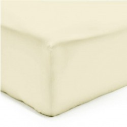 Drap Housse Maxi Jersey COQUILLE Coton Bonnet de 35 cm 140 x 200 cm