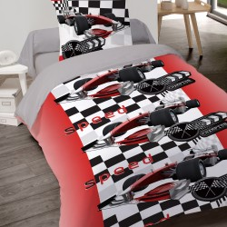 Housse de couette SPEED FAN Auto de course 140 x 200 +1 Taie