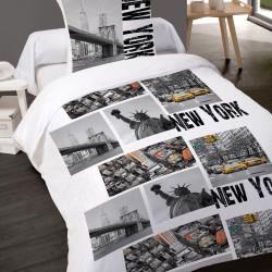 Housse de couette NEW YORK SKYLINE  140 x 200 + 1 Taie  100%  Coton