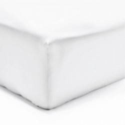 DRAP HOUSSE 160 x 200  BLANC VERITABLE PERCALE DE COTON bonnet 30 cm
