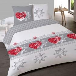 Parure de draps FLANELLE coton Pour lit de 160 ISOLA Style Chalet 4 PIECES 240x275