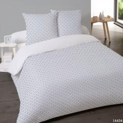 Parure de draps FLANELLE coton Pour lit de 160 ELIAS BLEU 4 PIECES 240x275