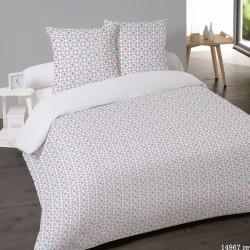 Parure de draps FLANELLE coton Pour lit de 160 MARIE ROSE 4 PIECES 240x275