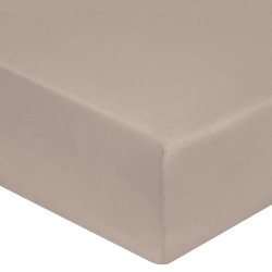 DRAP HOUSSE 140 x 190 cm GALET VERITABLE PERCALE DE COTON Bonnet de 30 cm