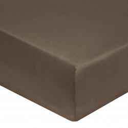 DRAP HOUSSE 140 x 190 cm VISON VERITABLE PERCALE DE COTON Bonnet de 30 cm