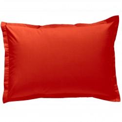 Taie d oreiller à volants 50x70 cm CORAIL Percale de Coton