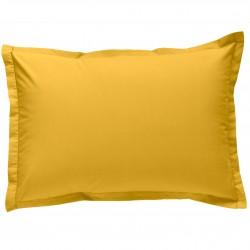 Taie d oreiller à volants 50x70 cm SAFRAN Percale de Coton