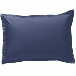 Taie d oreiller à volants 50x70 cm MARINE Percale de Coton