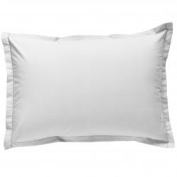 Taie d oreiller à volants 50x70 cm BLANC Percale de Coton