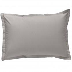 Taie d oreiller à volants 50x70 cm GRIS PERLE Percale de Coton
