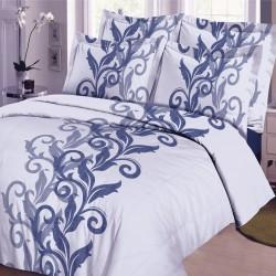 Parure de draps ARABESQUE CIEL pour lit de 160 x 200 cm 4 PIECES si