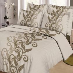 Parure de draps ARABESQUE TAUPE pour lit de 160 x 200 cm 4 PIECES si