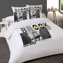 Housse de couette BROOKLYN NEW YORK 200 x 200 +2 Taies Coton 100%