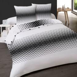 Parure de draps KALEIDOSCOPE Noir pour lit de 140x190 cm 4 PIECES