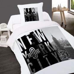 Housse de couette NEW YORK BRONX 140 x 200 + 1 Taie 100% Coton