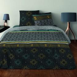 Parure de draps ART DECO GRIS pour lit de 140 x190 cm 4 PIECES