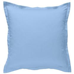 Taie d oreiller à volants 65 x 65 cm BLEU CIEL Percale de Coton