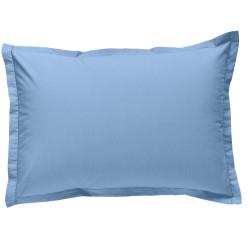 Taie d oreiller à volants 50x70 cm BLEU CIEL Percale de Coton