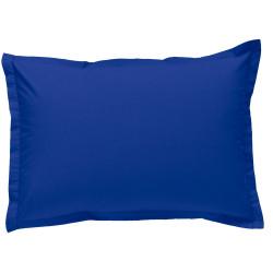 Taie d oreiller à volants  50x70 cm BLEU ROYAL Percale de Coton