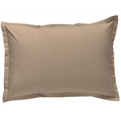 Taie d oreiller à volants 50x70 cm FICELLE IVOIRE Percale de Coton