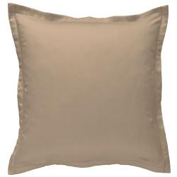 Taie d oreiller à volants 65 x 65 cm FICELLE IVOIRE Percale de Coton