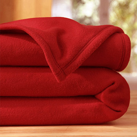 COUVERTURE POLAIRE 260 X 240 ROUGE 350 gr norme ISO