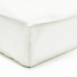Drap housse Flanelle Molleton Douceur 140-160 x 190-200 BLANC