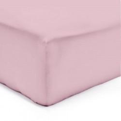 Drap housse Flanelle Molleton Douceur 160 x 200 ROSE bonnet de 30 cm