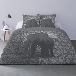 Housse de couette SUKI ELEPHANT 240 x 220 +2 Taies Coton supérieur