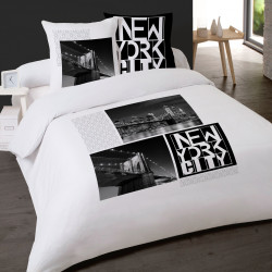 Housse de couette 260 x 240 +2 Taies NEW YORK BY NIGHT Coton