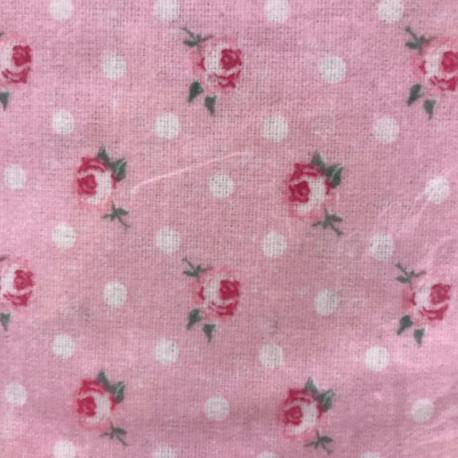 Drap Housse 200 x 200 cm Flanelle LIBERTY ROSE imprimé