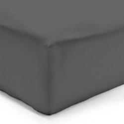 Drap Housse GRIS ANTHRACITE Jersey 160 x 200 cm Coton Bonnet de 30 cm DV