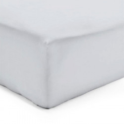 Drap Housse PERLE GRIS Jersey 160 x 200 cm Coton Bonnet de 30 cm DV