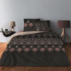 Parure de draps ARC DECO Bois de Rose pour lit de 140 x190 cm  4 PIECES