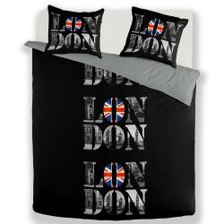 Housse de couette LONDON PICTURE 240 x 220 +2 Taies  Coton