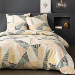 Parure de draps 270 x 300 cm 3 PIECES RENDAL GEOMETRIQUE  Percale de Coton