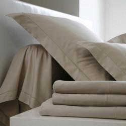DRAP HOUSSE 140 x 190 4 TETES IVOIRE bonnet de 27 cm Blanc Des Vosges