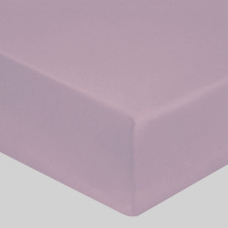 DRAP HOUSSE 160 x 200 VIOLET ICE VERITABLE PERCALE DE COTON maxi bonnet 40 cm