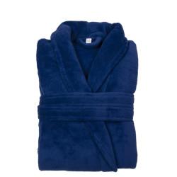 PEIGNOIR - Robe de CHAMBRE Douceur mixte Bleu Royal  taille S- M 200 g-m2