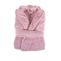 PEIGNOIR - Robe de CHAMBRE Douceur mixte ROSE taille L- XL 200 g-m2