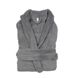 PEIGNOIR - Robe de CHAMBRE Douceur mixte GRIS PERLE taille L- XL 200 g-m2