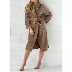 PEIGNOIR - Robe de CHAMBRE Douceur PINEAPPLE TAUPE taille S - M 280 g-m2