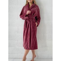 PEIGNOIR - Robe de CHAMBRE Douceur PINEAPPLE BOURGOGNE taille L - XL 280 g-m2