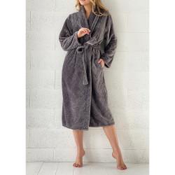 PEIGNOIR - Robe de CHAMBRE Douceur PINEAPPLE GRIS taille L - XL 280 g-m2