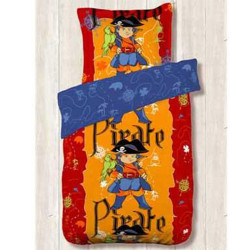 Housse de couette 140 x 200 +1 Taie CAPTAIN ZINO PIRATE
