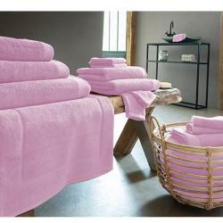 DRAP de BAIN 100 x150 cm ROSE  Coton Peigné 600 gr
