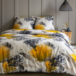 Housse de couette  260 x 240 cm + 2 Taies DAHLIA Coton traditionnel
